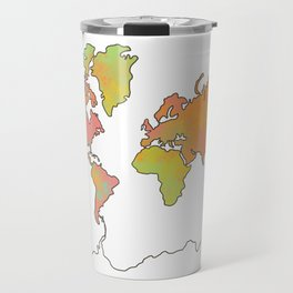 Contour Map of the World Travel Mug