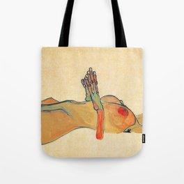 Egon Schiele - Orange knuckles and nipples (new color edit) Tote Bag