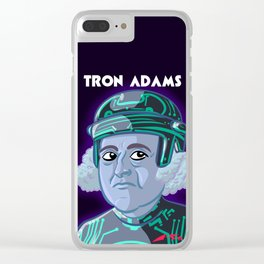 Tron Adams Clear iPhone Case