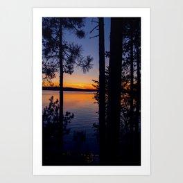 Northern Woods Sunset Art Print