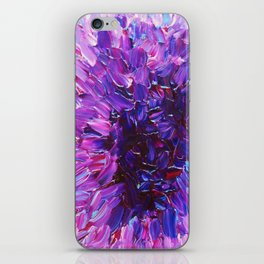 LOTUS BLOSSUM - Beautiful Purple Floral Abstract, Modern Decor in Eggplant Plum Lavender Lilac iPhone Skin
