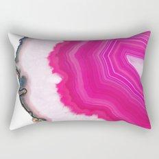 Pink Agate Slice Rectangular Pillow