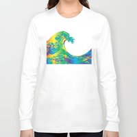 hokusai Long Sleeve T-shirts featuring Hokusai Rainbow_A by FACTORIE