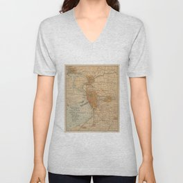 Vintage Map of Buffalo NY (1893) Unisex V-Neck