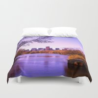 central park Duvet Covers featuring Central Park by Anna Andretta