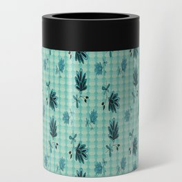 country blue flowers pattern Can Cooler