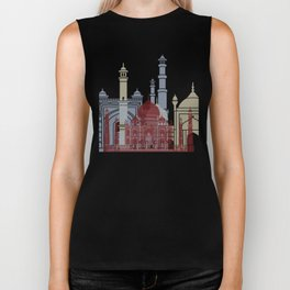 Agra skyline poster Biker Tank
