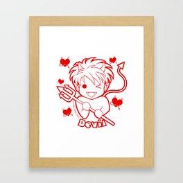 Kawaii Kiddies Cute Devil Framed Art Print