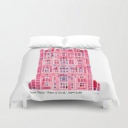 Hawa Mahal – Pink Palace of Jaipur, India Duvet Cover