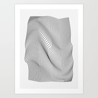 flag Art Prints featuring Minimal Curves by Leandro Pita