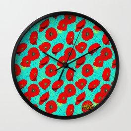 Flor de Amapola Wall Clock