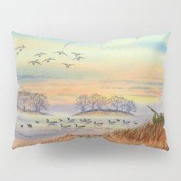 Goose Hunting Season Colorful Painting Pillow Sham