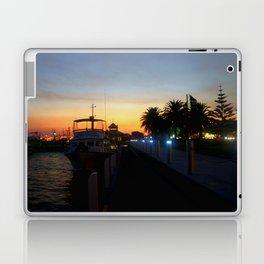 Night falls at Lakes Entrance Laptop & iPad Skin