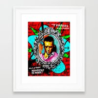 camus Framed Art Prints featuring Camus by Alec Goss