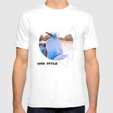 Mod Style in Blue White SMALL Mens Fitted Tee