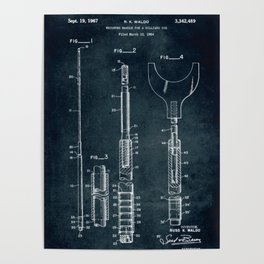 1964 - Weighted handle for a billiard cue Poster