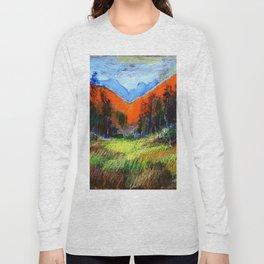 Mountain Meadow Landscape Long Sleeve T-shirt