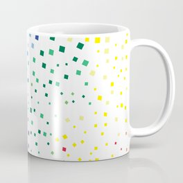 rainbow color geometric Coffee Mug
