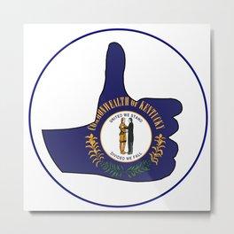 Thumbs Up Kentucky Metal Print