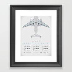 Arriving Late - Tour Poster Framed Art Print