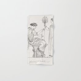 Priest of Bacchus  attendant from An  of the Egyptian Grecian and Roman costumes by Thomas Baxter(17 Hand & Bath Towel