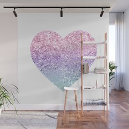 Unicorn Girls Glitter Heart #1 #shiny #pastel #decor #art #society6 Wall Mural