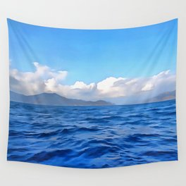 Aegean Blue Wall Tapestry