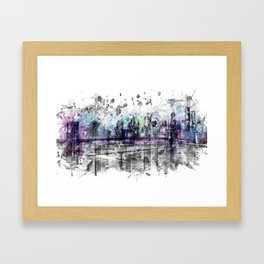 Modern Art NEW YORK CITY Skyline | Splashes Framed Art Print