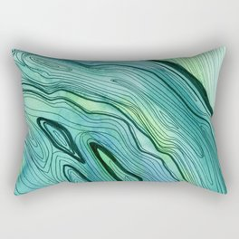 Blue Lace Agate II Rectangular Pillow