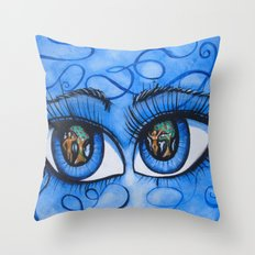 Lucifer Eyes Throw Pillow