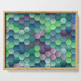 Honeycomb hexagonal Serving Tray