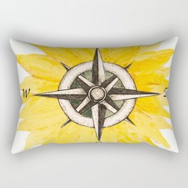 Compass  Sunflower Rectangular Pillow