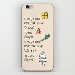Very Merry Unbirthday iPhone Skin