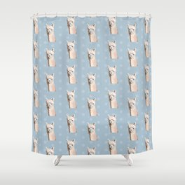 Llama lloves you Shower Curtain