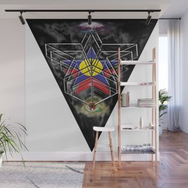 """Beez Lee Art : Wish Upon A Triangle Star"" Wall Mural"