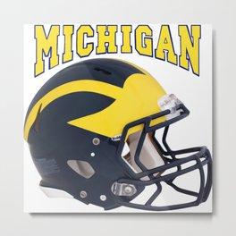 Michigan Football Helmet Metal Print