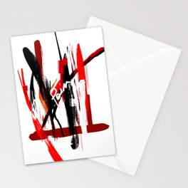 abstract red pain Stationery Cards