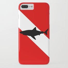 Diving Flag: Shark iPhone Case