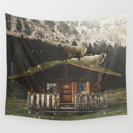 Sheep on the roof Wall Tapestry