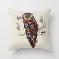kris tate Throw Pillows featuring HATKEE Collaboration by Kyle Naylor and Kris Tate by Kyle Naylor