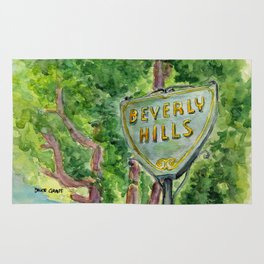 Beverly Hills Street Sign Rug