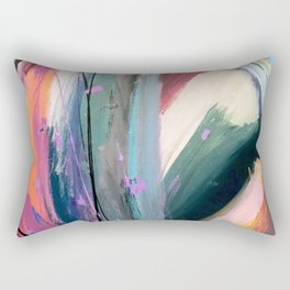 Eye of the Beholder [4]: a colorful, vibrant abstract in purples, blues, orange, pink, and gold Rectangular Pillow