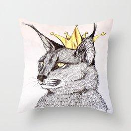 King Lynx Throw Pillow