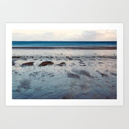 Blue Beach Art Print