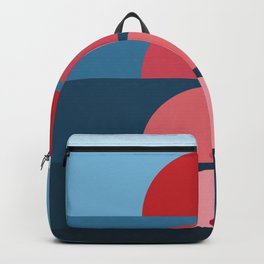 Geometric Shapes in Sunrise Sunset Abstract Backpack