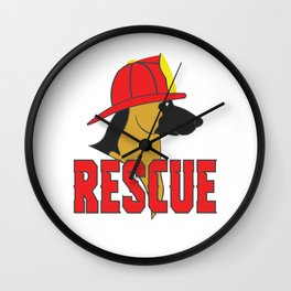 Cute Rescue Dog Gift – Fireman Helmet Wall Clock