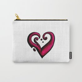 Heart / قلب (pink) Carry-All Pouch