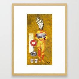 Nursing a Creative Block Framed Art Print