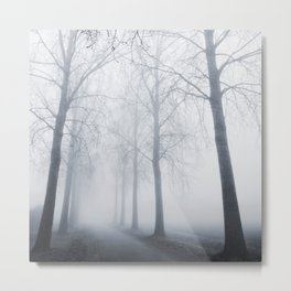 More Trees in the Mist Metal Print