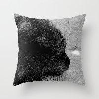 boss Throw Pillows featuring Boss by Leffan